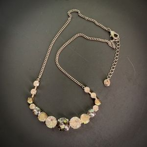 LOFT Smoky Quartz Rhinestone Necklace Graduated
